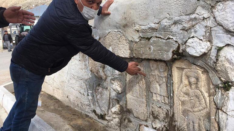 Çeşme, ev ve duvarlara yerleştirilen tarihi eserleri vermek istemediler