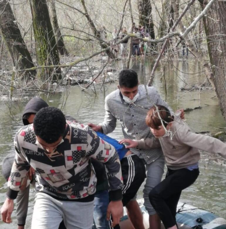 MSB: Meriç Nehrinde mahsur kalan 30 göçmen kurtarıldı
