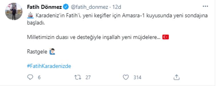 Bakan açıkladı Karadeniz'in Fatih'i yeni sondajına başladı