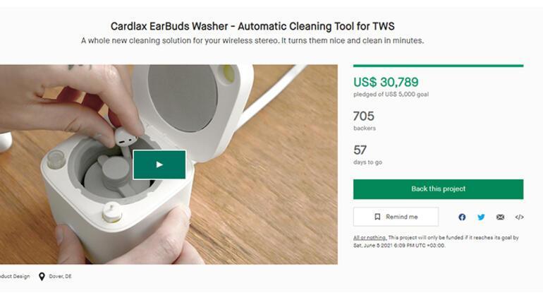 AirPods temizleyen mini bulaşık makinesi tasarlandı