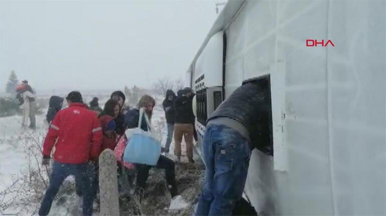 Son dakika: Konyada tur otobüsü şarampole devrildi Ölü ve yaralılar var