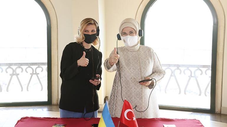Emine Erdoğan, Ukrayna Devlet Başkanı Zelenskiynin eşi Olena Zelenska ile Galata Kulesini ziyaret etti
