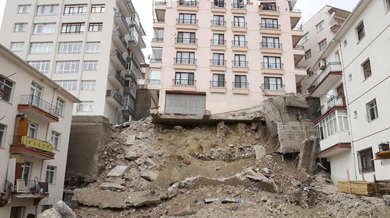 Son dakika... Ankarada temeli kayan bina Bakan Kurumdan açıklama