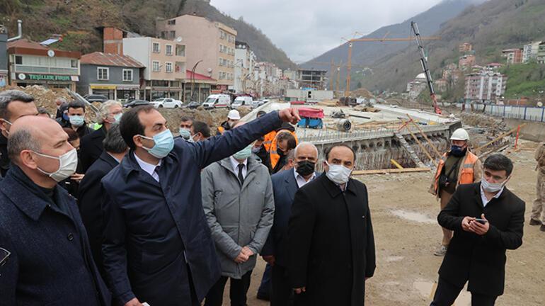 Bakan Soylu, Giresunda yaşanan sel afetinin ardından yapılan çalışmaları inceledi