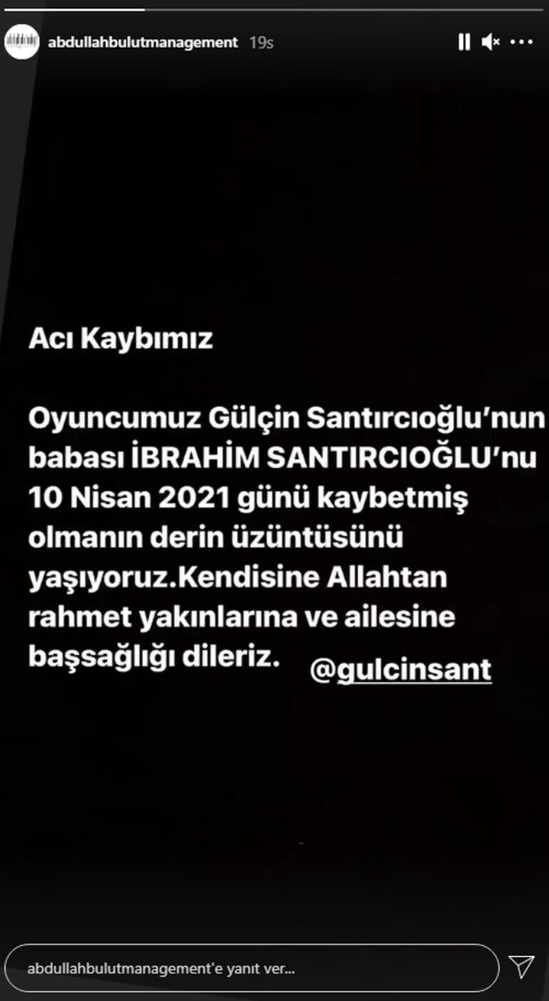 Gülçin Santırcıoğlu'nun acı günü