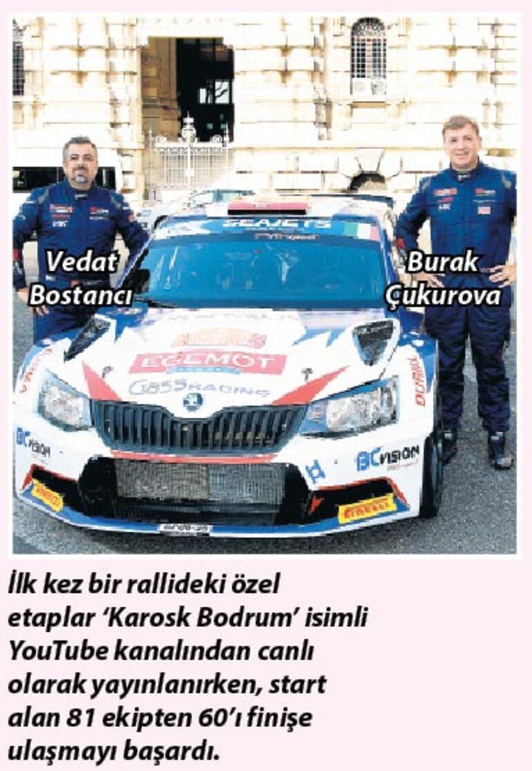 Bodrum'da ralli heyecanı