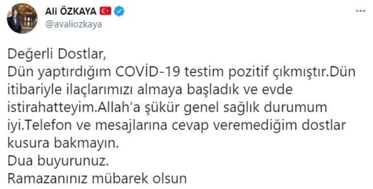 AK Partili Özkaya, koronavirüse yakalandı