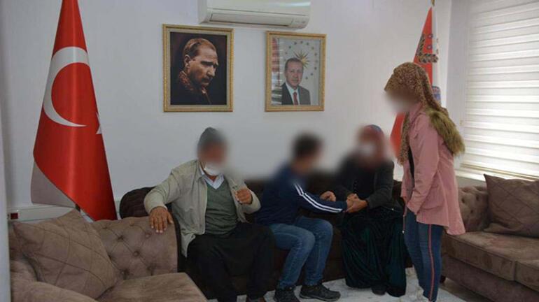 Teslim olan terörist, ailesiyle buluşturuldu