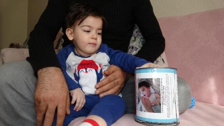 SMA hastası Ali Osmanın yardım kumbarası çalındı