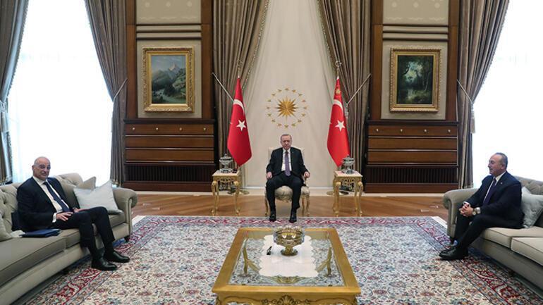 Son dakika Cumhurbaşkanı Erdoğan, Yunanistan Dışişleri Bakanı Dendiası kabul etti