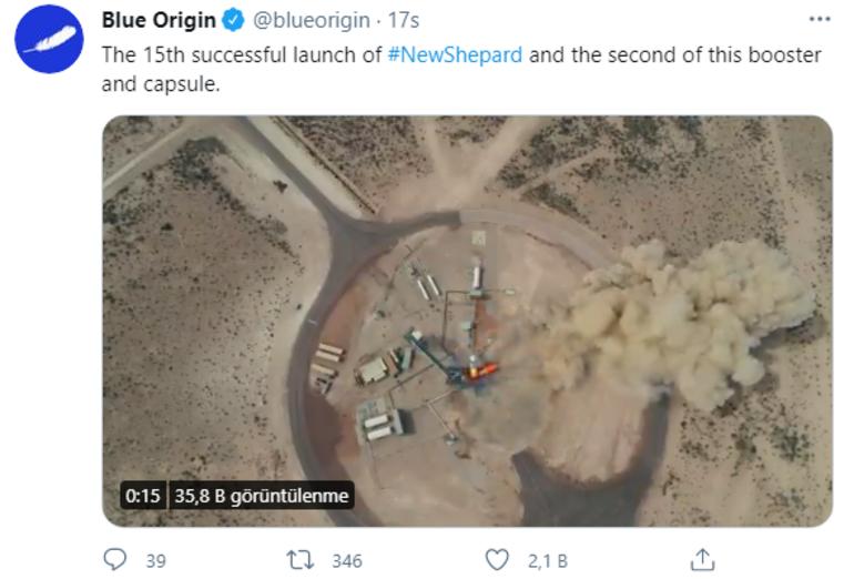 Jeff Bezosun Blue Origin görevinde önemli test uçuşu