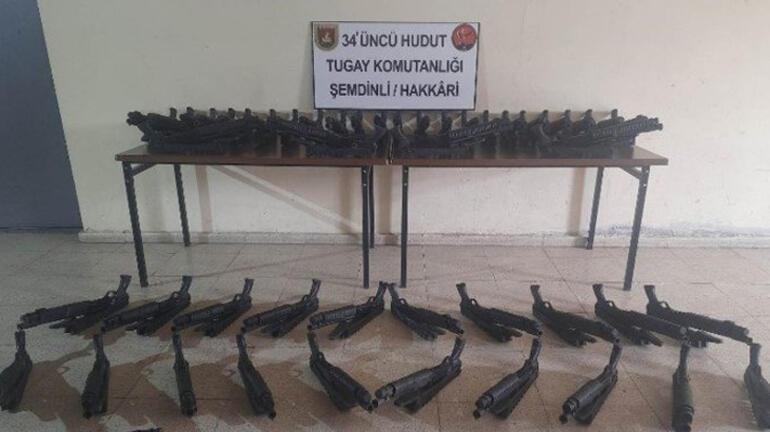 Hakkaride PKKlı teröristlere ait mühimmat ve yaşam malzemeleri ele geçirildi