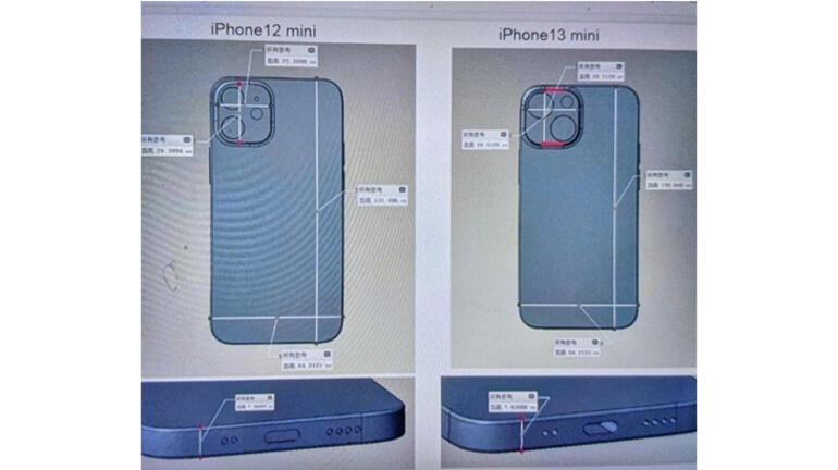 iPhone 13 Mini ilk kez görüldü Böyle mi görünecek