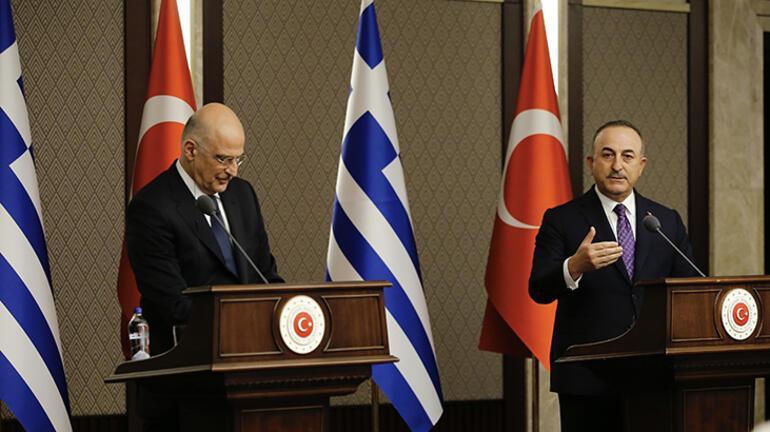Son dakika: Son dakika: Dostça başlayan toplantıya Yunan Bakan skandalı damga vurdu Bakan Çavuşoğlu yüzüne bakıp söyledi