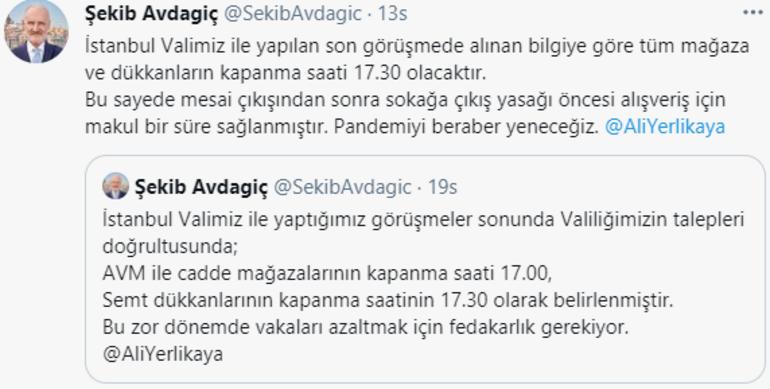 Son dakika: İstanbulda tüm mağaza ve dükkanların kapanma saati değişti