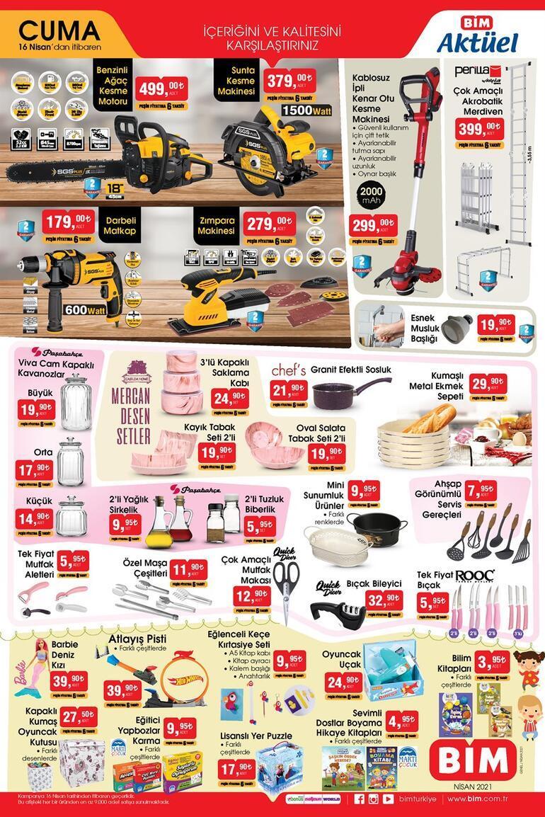 BİM aktüel ürünler kataloğunda bugün hangi indirimli ürünler var 16 Nisan BİM aktüel ürünler kataloğunda yer alan indirimli ürünler...