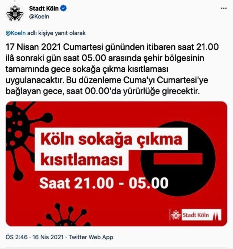 Köln Belediyesi Türkçe paylaştı Başlıyor