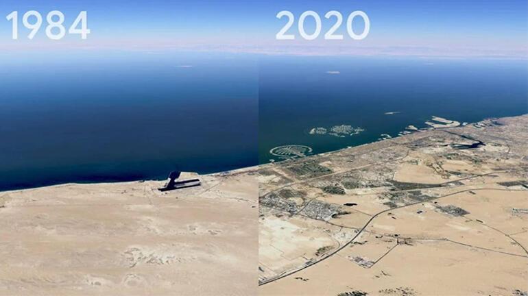 Zamanda yolculuk yaptıran  Google Earth özelliği