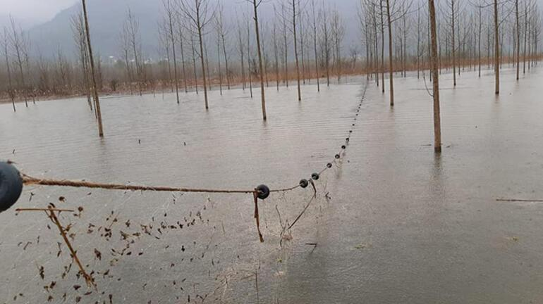 Düzcede bulundu Gölde 800 metrelik ağ ele geçirildi
