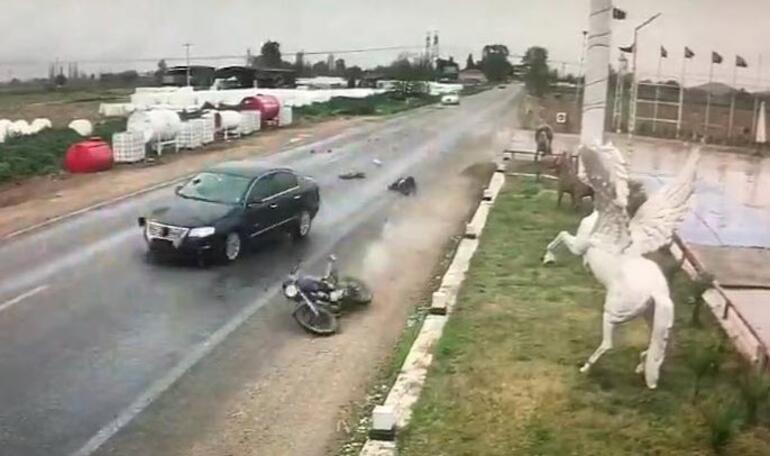 Kaza anbean kaydedildi Ağır yaralandı