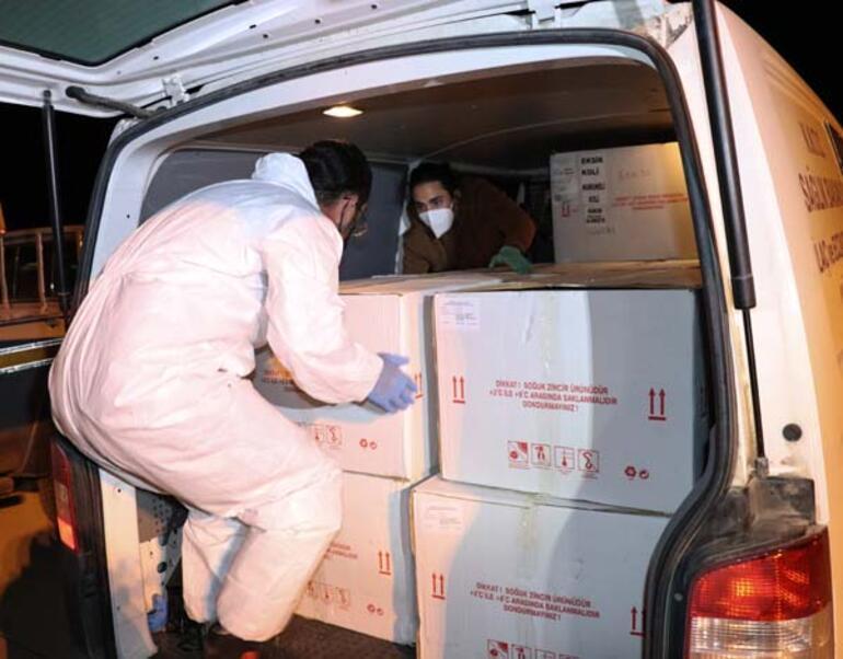 Türkiyeden KKTCye 40 bin doz covid-19 aşısı daha gönderildi