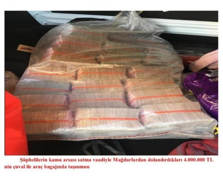 Son dakika... Ankarada arsa vurgunu Çuvalda 4 milyon lira