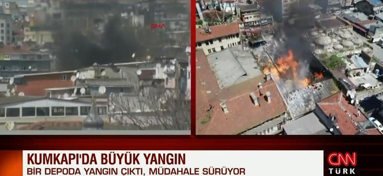 Son dakika: İstanbulda kimyasal madde dolu depoda yangın
