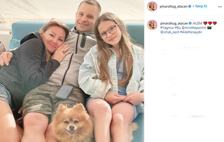 Pınar Altuğdan mutlu aile pozu