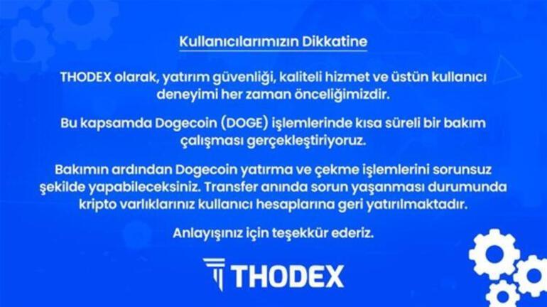 Thodex battı mı, ne zaman açılacak Thodexten açıklama geldi...