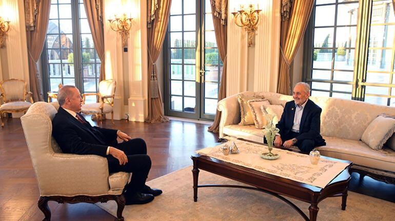 Cumhurbaşkanı Erdoğan, Saadet Partisi Yüksek İstişare Kurulu Başkanı Asiltürkü kabul etti