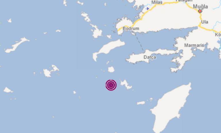 Son dakika: Ege Denizinde 4,1 büyüklüğünde deprem