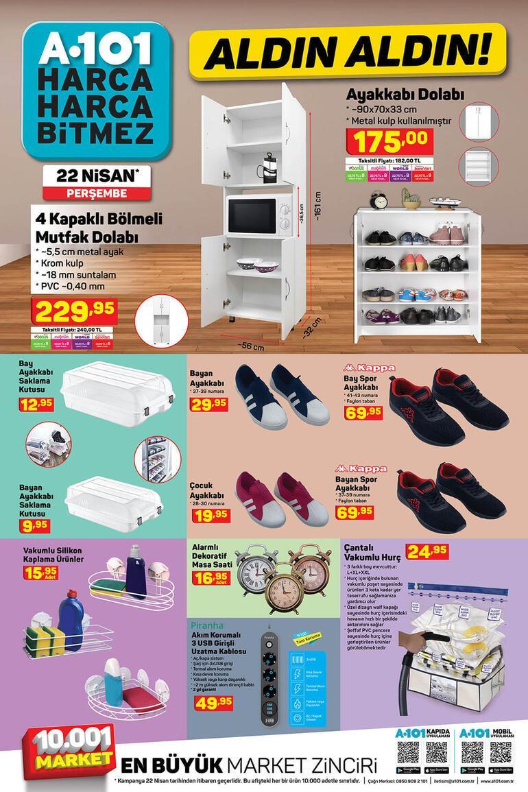 A101 saat kaçta açılıyor/kapanıyor A101 aktüel ürünler kataloğunda yer alan ürünler satışta