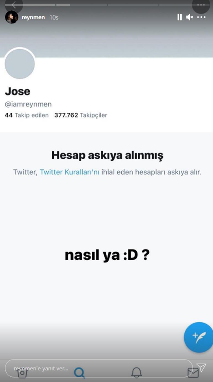 Reynmenin Twitter hesabı askıya alındı