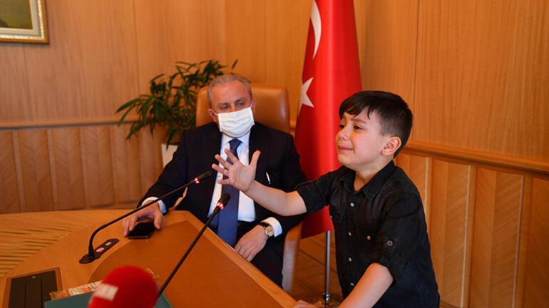 TBMM Başkanı Şentop, 23 öğrenciyi kabul etti
