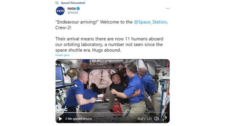 SpaceX ve NASA başardı: Astronotlar istasyona ulaştı