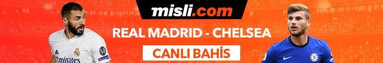 Real Madrid-Chelsea maçı Tek Maç ve Canlı Bahis seçenekleriyle Misli.comda