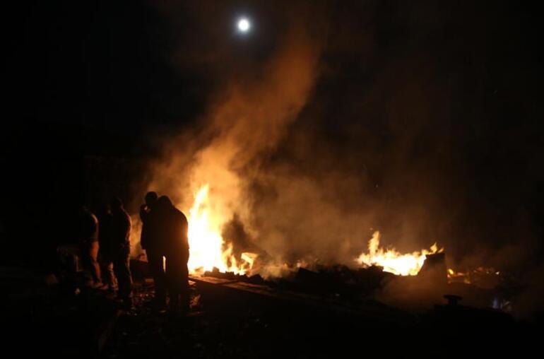 Dehşet anları 2 kişi yanarak can verdi