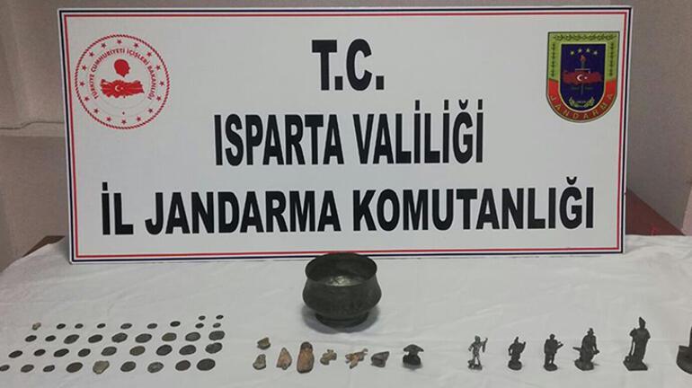 Ispartada tarihi eser operasyonu: 7 gözaltı