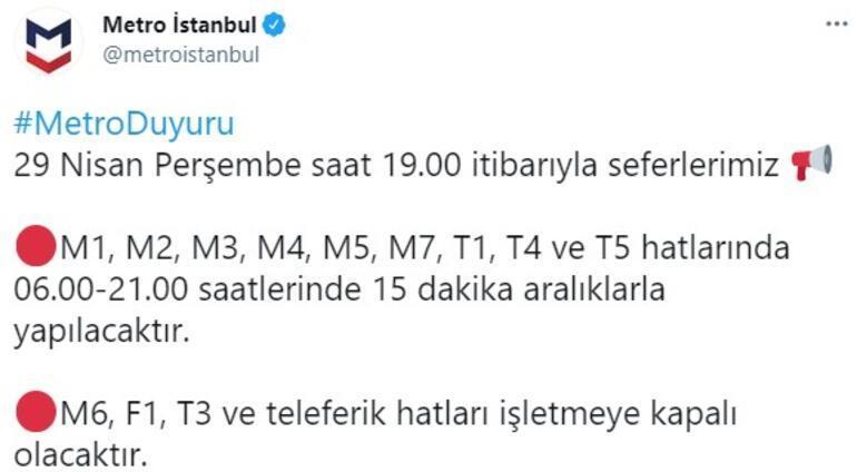 Son dakika haberi: Metro İstanbul seferlerine tam kapanma düzenlemesi geldi
