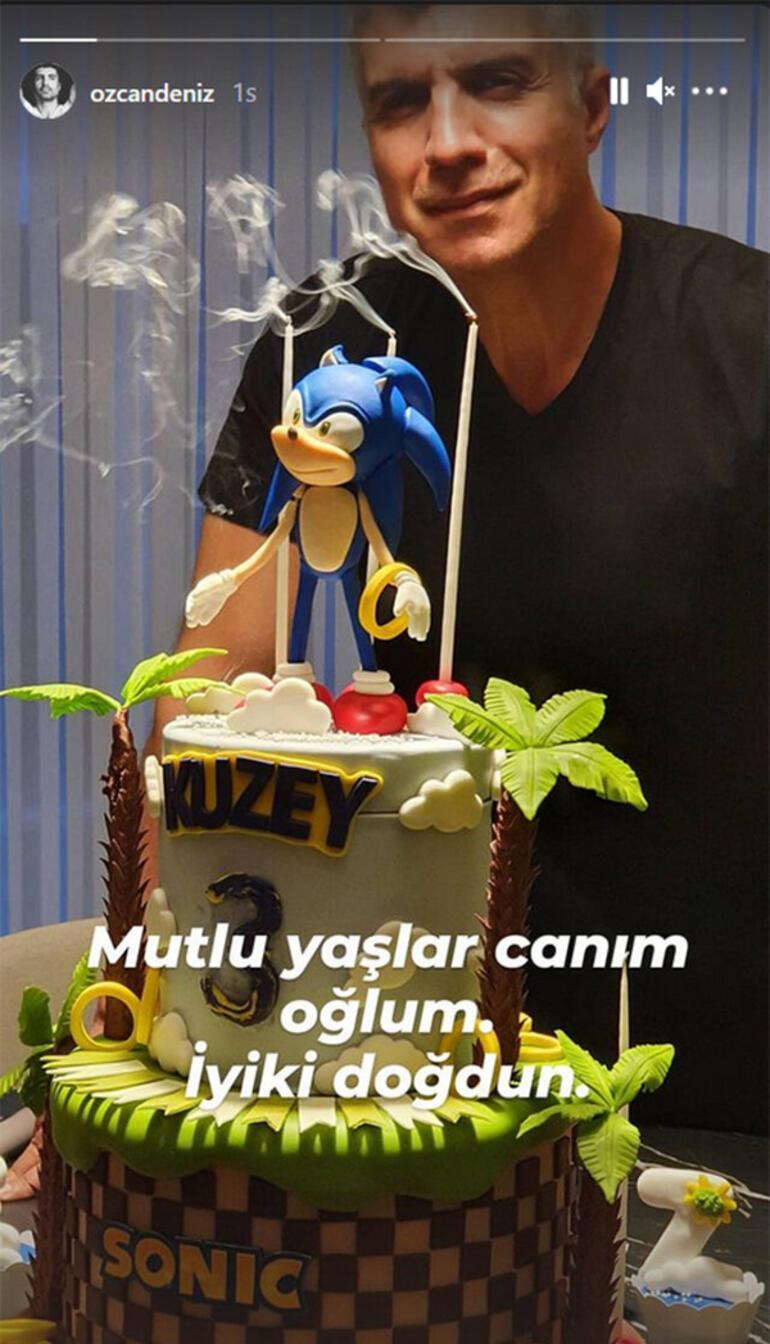 Özcan Deniz oğlunun doğum gününü tek başına kutladı