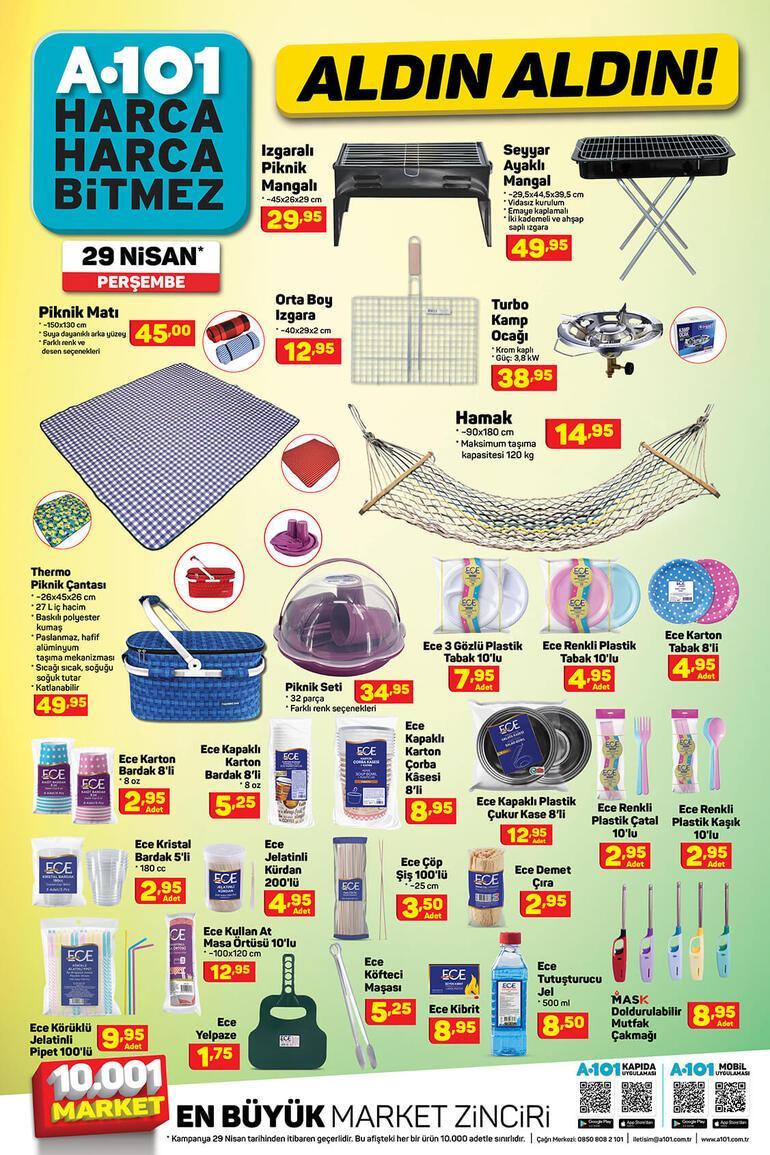 A101 Aldın Aldın aktüel kataloğunda bugün hangi ürünler satışta 29 Nisan A101 aktüel ürünler kataloğu...
