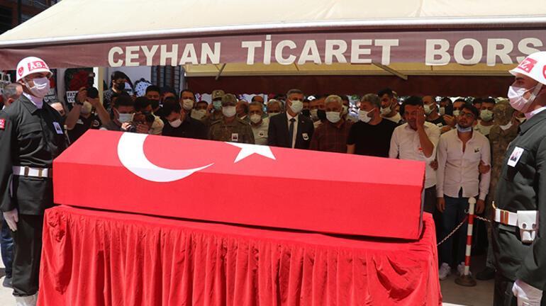 Şehit uzman çavuş Mehmet Kırmızı, Adanada son yolculuğuna uğurlandı