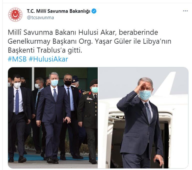Son dakika... Türk heyetinden Libyaya ziyaret