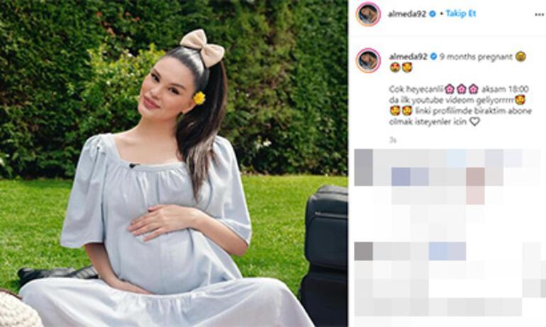 Almeda Abaziyi bebek heyecanı sardı