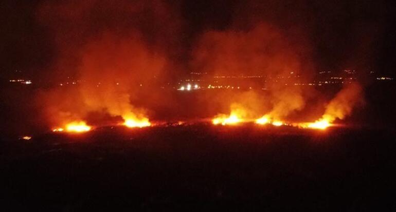 Korkutan yangın İtfaiye bölgeye giremiyor
