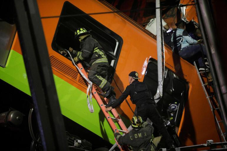 Son dakika... Meksikada metro üst geçidi çöktü Onlarca ölü ve yaralı var