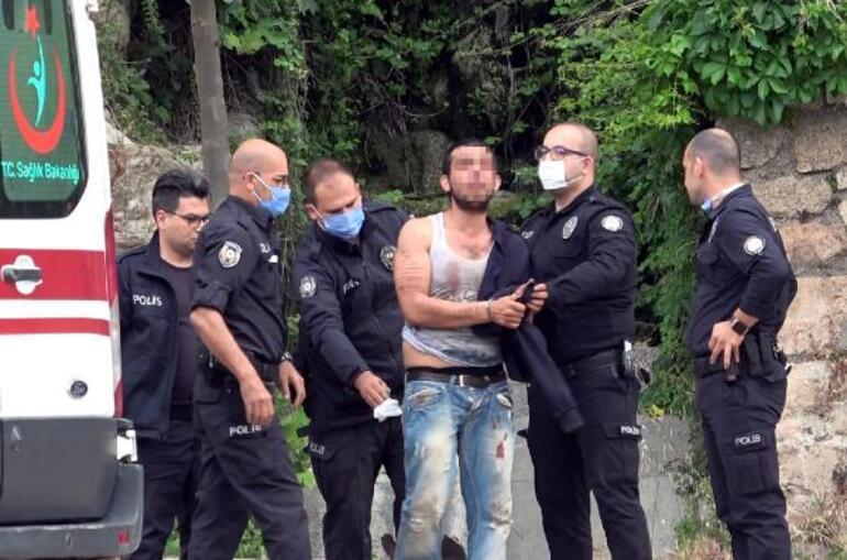 Antalyada korku dolu dakikalar Elinde bıçakla bekledi