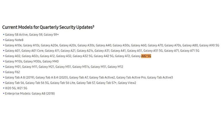 Samsung Galaxy A82 5G modelini resmi olarak açıkladı