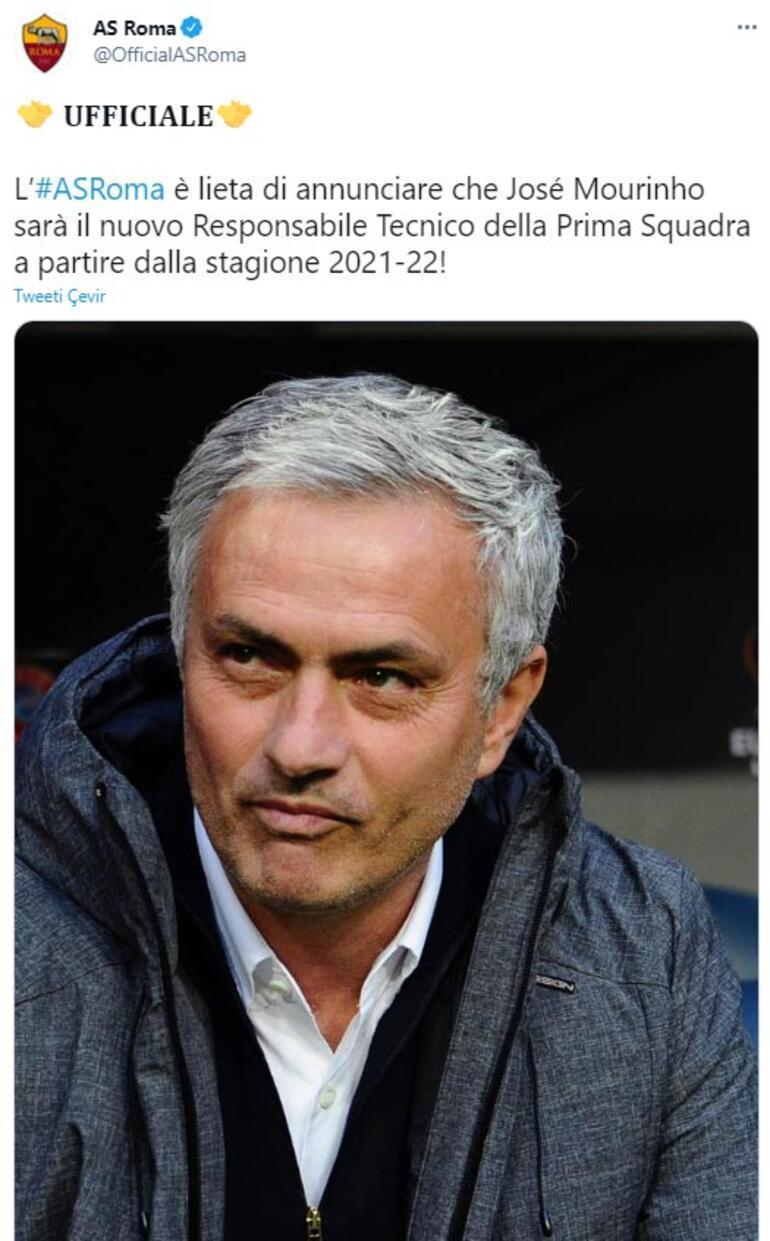 Son dakika: Roma, Mourinhoyu resmen açıkladı