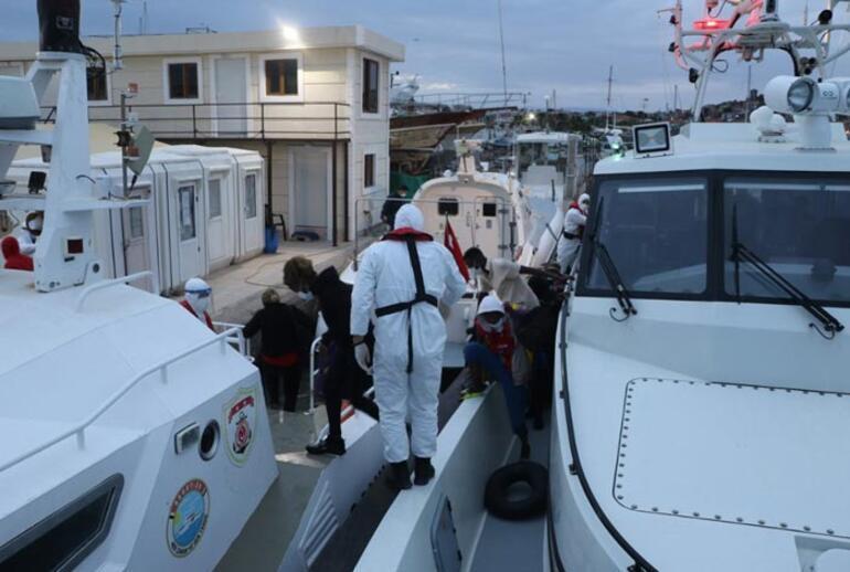 Türk kara sularına itilen 39 düzensiz göçmen kurtarıldı